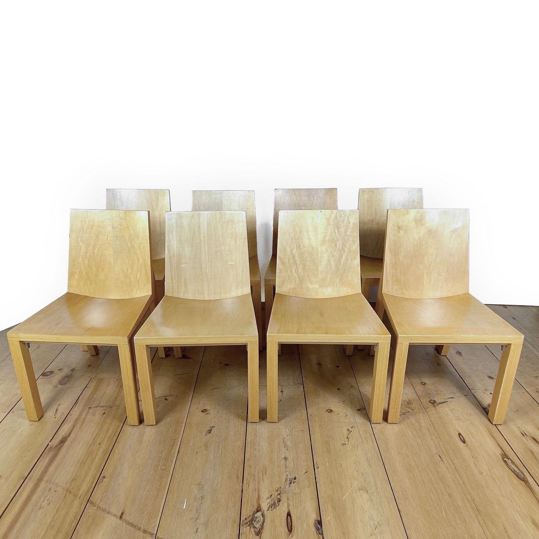 19100713 – Set of 8 Library Chairs Dakota Jackson – 1