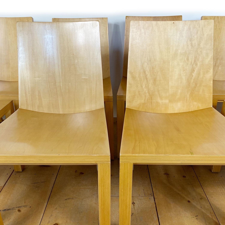 19100713 – Set of 8 Library Chairs Dakota Jackson – 2
