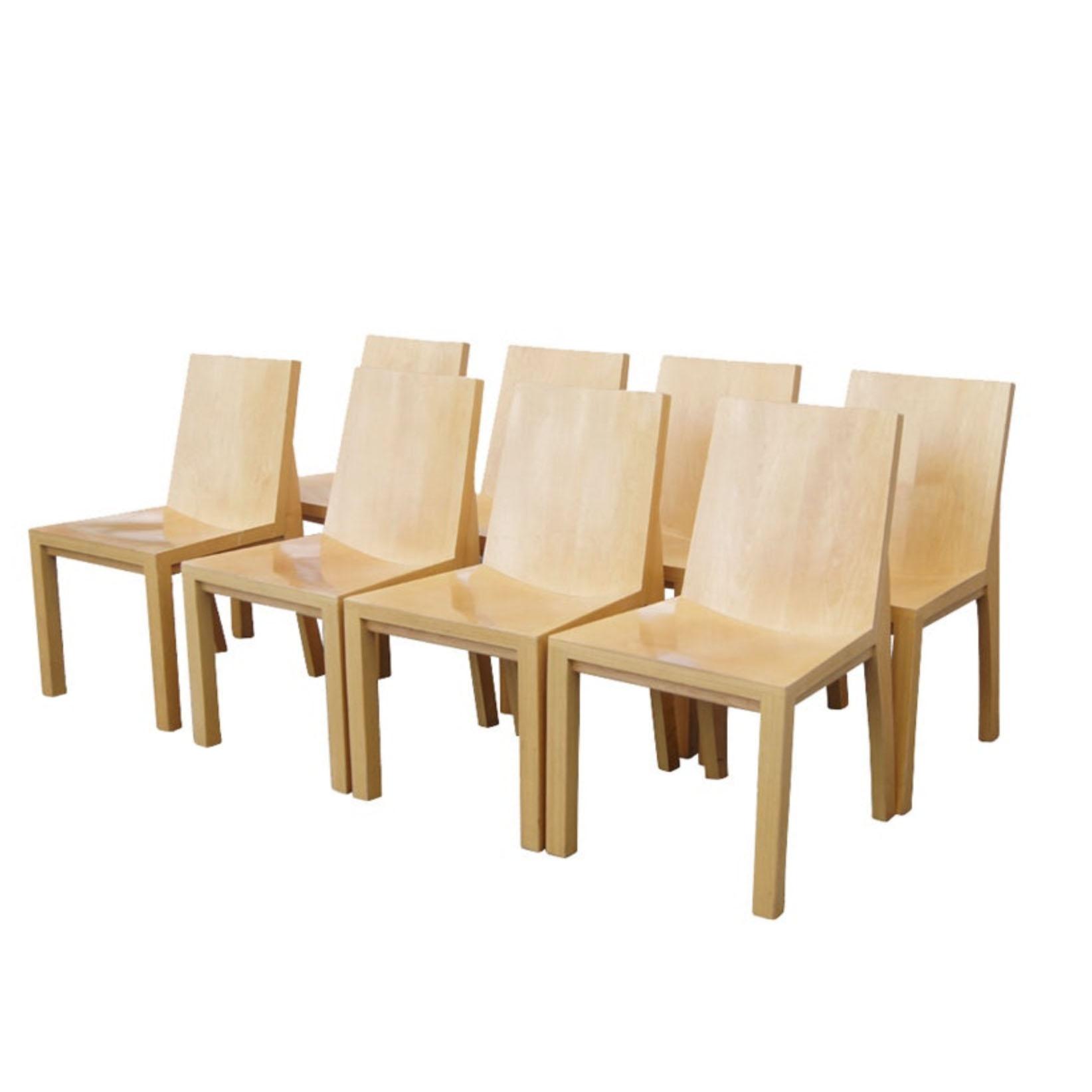 19100713 – Set of 8 Library Chairs Dakota Jackson – 20